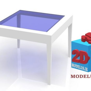 دانلود طرح میز عسلی مربعی زیبا 010